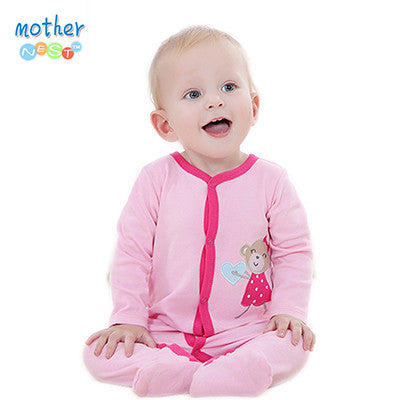 0-12 M Baby Romper Long Sleeve Pink Stripped 100% Cotton Baby Jumpsuit Newborn Baby Girl Clothes Infant Clothing Baby Overall