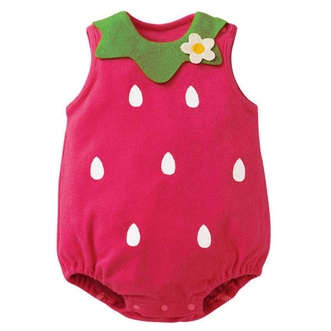 0-12M Baby Romper Suit Baby Girl Boy Cozy Baby Suit Newborn Infant Toddler Cartoon Jumpsuit Sleeveless