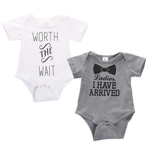 0-12M Newborn Boys Girls Clothes Cotton Short Sleeve Bodysuit