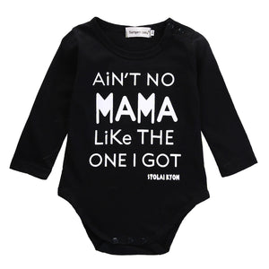 0-18M Newborn Infant Baby Bodysuit Toddler Boys Girls Long Sleeve Cotton Letter Print Casual Clothes