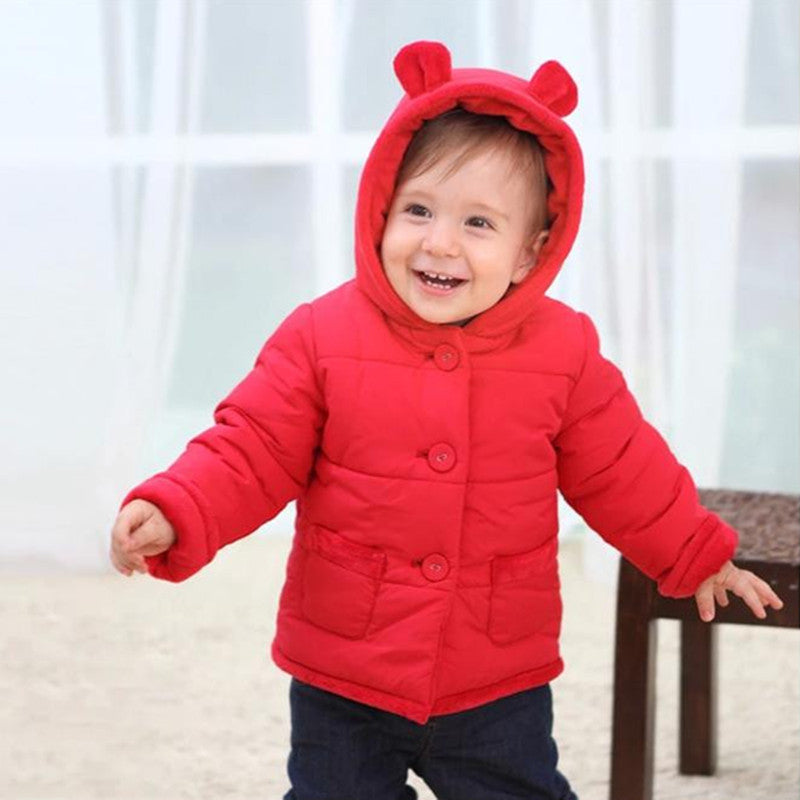 97cf40c22 0-2 Years Fashion Baby Coat Cotton Thick Winter Warm Boy Clothes ...