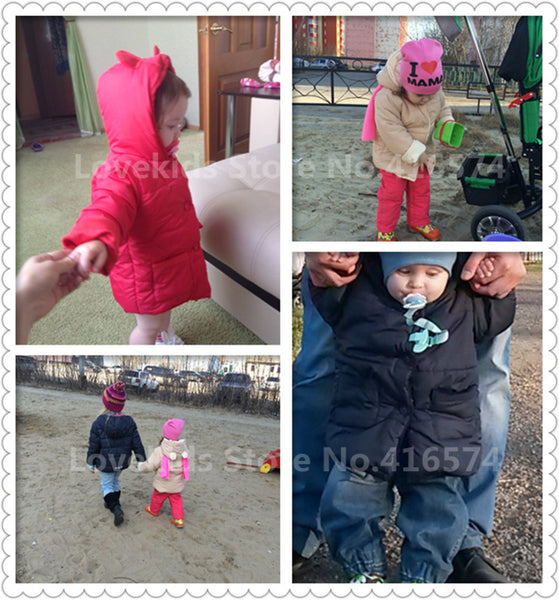 0-2 Years Fashion Baby Coat Cotton Thick Winter Warm Boy Clothes Infant Coats For Boys And Girls Toldder Jacket Baby-Snowsuit