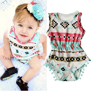 0-24M Toddler Girls Clothes Infant Baby Bodysuit Sleeveless Print Cute Bebes Body Playsuit One-Pieces