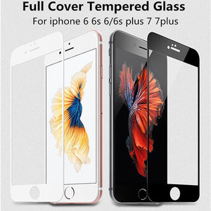 0.26 mm 2.5D 9H Full Coverage Cover Tempered Glass For iPhone 6 6s Plus Screen Protector Protective Film For iPhone 7 7 plus