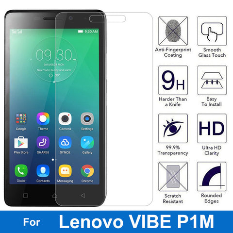 0.26MM Explosion-proof Tempered Glass Film For Lenovo VIBE P1m P1mc50 P1ma40 Dual Sim Front Screen Protector pelicula de vidro