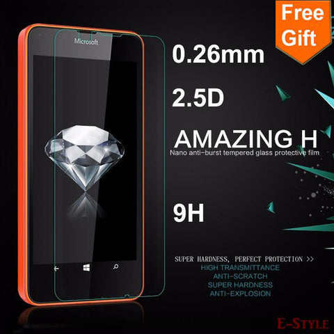 0.26mm Tempered Glass For Microsoft Lumia 435 532 535 630 640 640XL 730 830 950 950XL 1320 Premium Screen Protector Film case