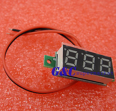 "0.28"" DC Digital Voltmeter Panel Mount LED Voltage Volt Meter Red 2.5-30V"