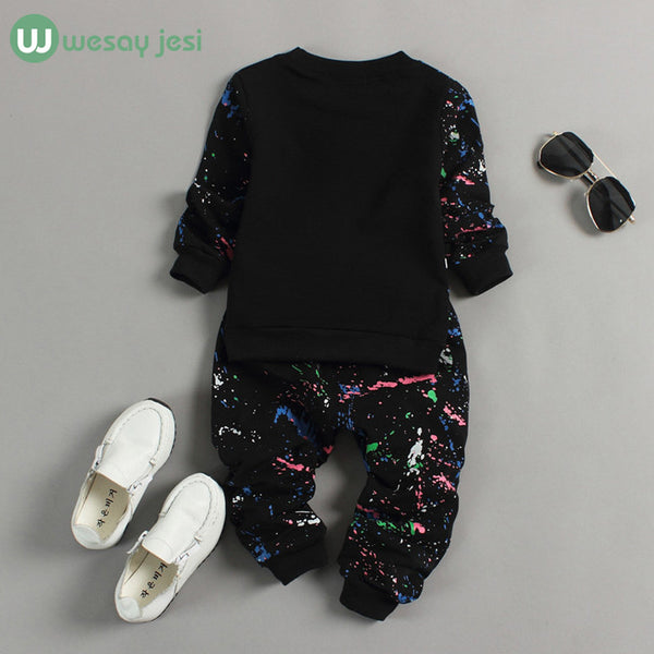 0-2T Baby girl clothes winter Spring Fashion printing graffiti Newborn baby boy clothing Set Girl Long Sleeve Infant Clothing