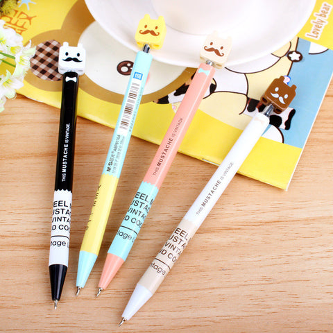 0.38mm Blue Cute Kawaii Roller Ball Ballpoint Pen For Writing School Supplies Office Accessories Stationary For Kids Children