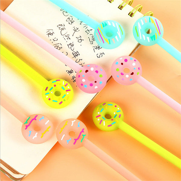 0.38mm Creative Cartoon Donuts Gel Pens Cute Kawaii Candy Color Pen For Kids Gift School Supplies Free Shipping 2110