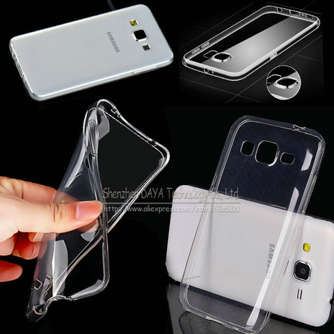 0.3mm Clear Crystal Soft TPU Case Cover For Samsung Galaxy Note4 Note5 Note7 A3 A5 A7 A8 E5 E7 alpha Grand Prime G530 Phone Bag