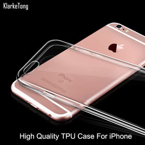 0.3mm Crystal Clear Soft Silicone Transparent TPU Case Cover For iPhone 6 6S 5 5s se 7 6Plus Ultra Thin Cell Phone Cases