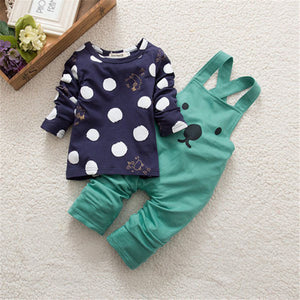 0-3Y Toddler Children Kids Baby Boy Girls Bear Print Cartoon Harem Pants Overalls Trouser