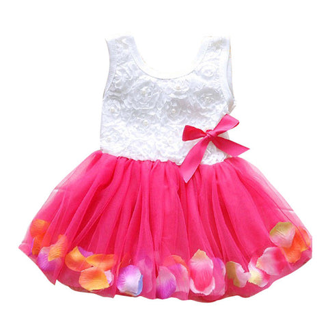 0-4Y Baby Kids Girls Princess Pageant Party Tutu Dress Lace Bow Flower Tulle Dresses