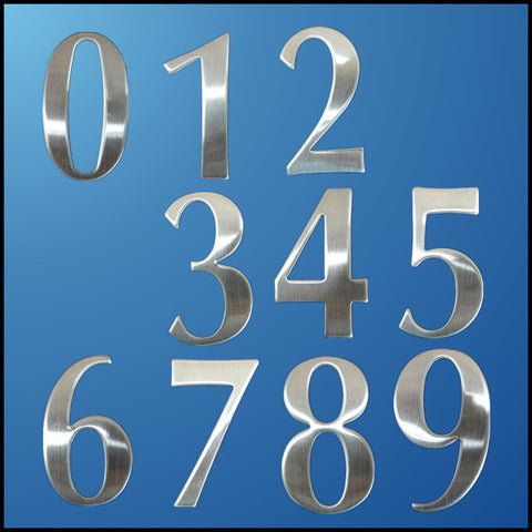 0-9 Modern House Numbers Stainless Steel Number Digits Sticker Plate Sign Size 6.2*3.5*1.9cm Door Letters Room Gate Number New