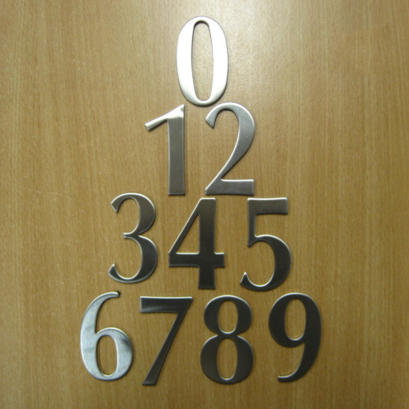 1/& 3 House Numbers Plaque Digits Sticker Plate Sign Numeral Door Letter