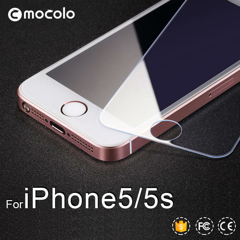 0.21mm Tempered Glass Screen Protector for iPhone 5s Anti-shock with Retail Packaging and High Quality Accessories for iPhone 5
