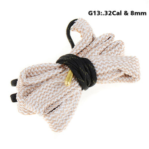 0.32cal 8MM Bore Snake Rope Rifle Pistol Hunting Cleaning Cord Kit Accessories Gauge Cleaner Rope P15