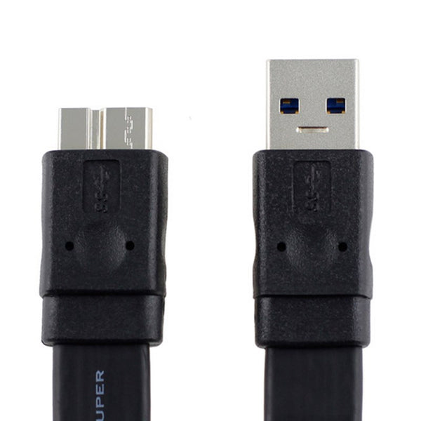 0.3M-3M USB 3.0 Type A Male to Micro B Super Slim Flat Cable for External Hard Disk Samsung Note3 S5 Thinkpad 8 SSD