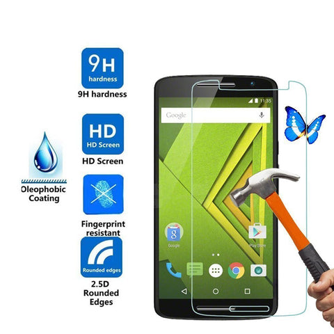 0.3mm Explosion-proof Front Tempered Glass Film for Motorola Moto X Play 5.5inch Screen Protector