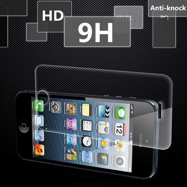 0.3mm Thin Tempered Glass Screen Protector for iphone 5 5s 5c HD Premium Protective Film Anti-knock 2016 pelicula de vidro