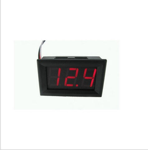 "0.56"" Red Digital Voltmeter 4.5-30v DC 4.5V to 30V Digital Voltmeter Voltage Panel Meter 6V 12V 24V Electromobile Motorcycle"