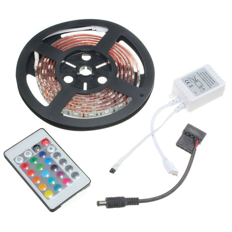 0.5M 1M 1.5M 2M Super Bright RGB 5050 SMD 16 Colors LED Strip Computer PC Chassis Lights With 24 Keys Remote Control 12V