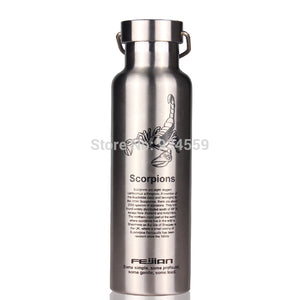 0.6L 18 10 stainless steel vacuum flask thermos bottle vacuum cup travel mug insulated water outdoor kettle cups