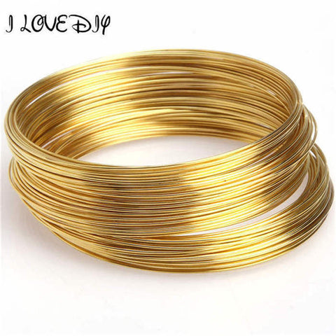0.6MM 100 Loops Round Memory Steel Wire For Charm Cuff Bangle Bracelet fit bracelet DIY making