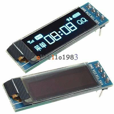 0.91'' 128x32 IIC I2C Blue OLED LCD Display DIY Module DC3.3V 5V For PIC