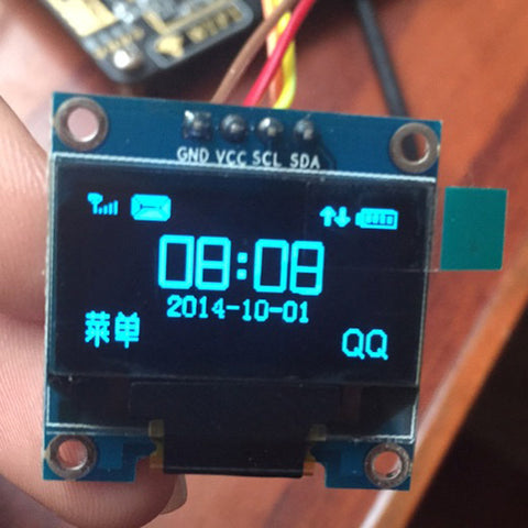"0.96 inch IIC Serial Blue OLED Display Module 128X64 I2C SSD1306 12864 LCD Screen Board GND VCC SCL SDA 0.96"" for Arduino"