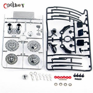 1 10 RC car parts Racing On Road Drift Model Car Exhaust Dummy Brake Disc Accessories 025073 For Speed Control