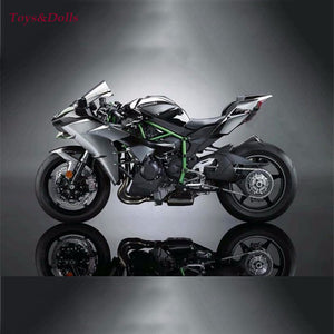 1 18 Maisto 2016 Kawasaki H2R Black Motorcylce Diecast Model w Removable Base Kids Gift Collection Gifts