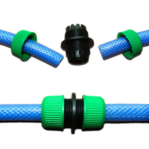 1 2'' Garden Water Hose Connector Pipe Quick Connectors Joining Mender Repair Leaking Joiner Connector Adapter