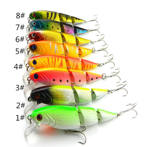 1 2 4Pc Jointed Fishing Lures 10.5CM 14G 6# hooks fishing tackle equipment pesca fish bait hard artificial lure wobbler minnow