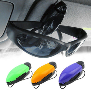 1 2 4pcs Car Glasses Holder Auto Vehicle Visor Sunglass Eye Glasses Business Bank Card Ticket Holder Clip Support+Color Random