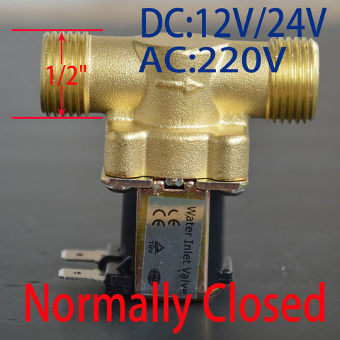 "1 2"" New Electric Solenoid Valve For Water Air N C DC 12V 24V AC 220V Normally Closed Home Using Accessorie"