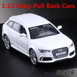 1:32 alloy car models high simulation Audi RS6 metal diecasts toy vehicles pull back & flashing & musical free shipping