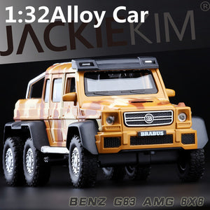 1:32 alloy car models high simulation SUV benz G63AMG toy vehicles metal diecasts pull back & flashing & musical free shipping