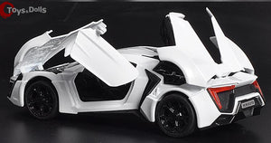 1:32 Scale 4 Color Alloy Lykan Hypersport Toy Car Fast & Furious 7 Diecast Car Model Cars Model Toys With Light&Sound
