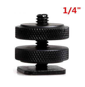 "1 4"" Tripod Mount Screw with Double Layer to Flash Hot Shoe Adapter Holder Mount Photo Studio Accessories"