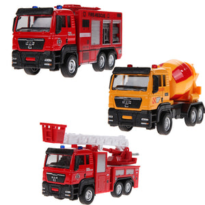 1:55 Scale Alloy Engineering Models Slide Toy Car Truck Mixer Children's Educational Toys Free Shipping