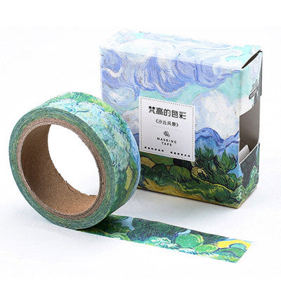 1.5cm*7m classic Color of Van Gogh washi tape DIY decorative scrapbooking planner masking adhesive tape label sticker stationery