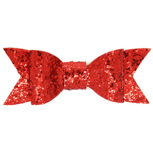 1 PC Bling Hair Clip Sequined Big Bow Glitter Fabric Bow Knot Hair Clip for Girl and Women Hair Accessories Sequin Bow with CLIP
