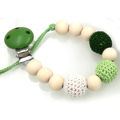 1 Pc Sale 3 Color To Choose Natural Baby Pacifier Clip Dummy Holder