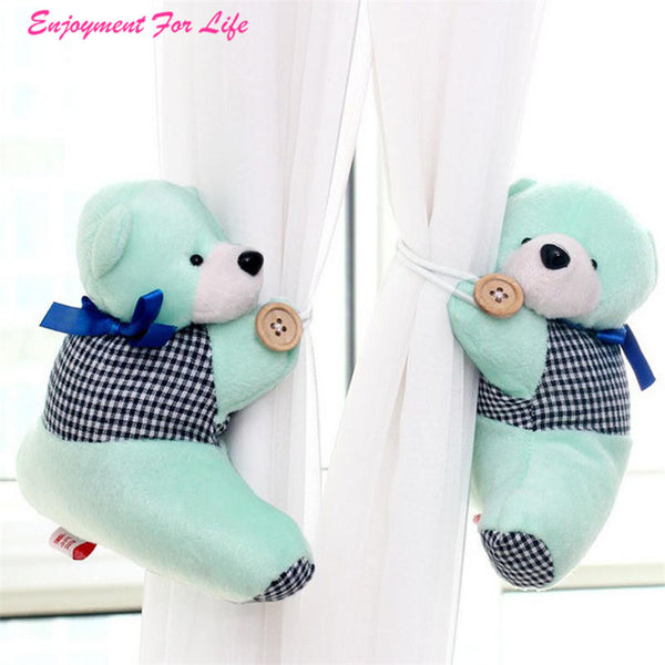 1 Pair Bear Winne Window Curtain 2016 Wholesale High Quality Hot Sale Tieback Buckle Clamp Hook Fastener Free Shipping Dec 19