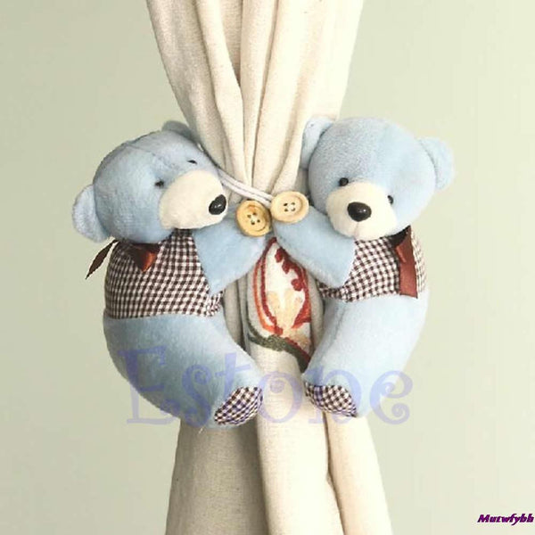 1 Pair Cartoon Bear Baby Kid Nursery Bedroom Curtain Tieback Holder Buckle Hook