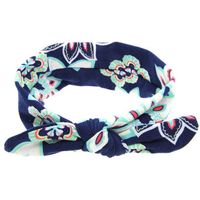 1 Pcs New Cute Baby Flower Bow Knot Elasticity Headband Girls Rabbit ears Hair Band Cotton Headwear Hair Accessories W219
