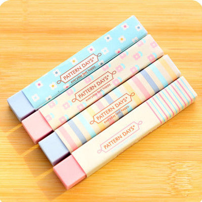 1 X color cartoon long rubber eraser creative student stationery office school supplies papelaria gift for kids