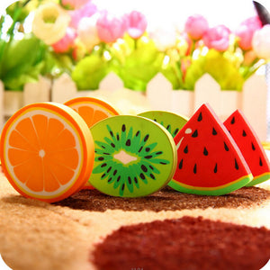 1 X novelty Fruit rubber eraser creative kawaii stationery school supplies papelaria gift for kids